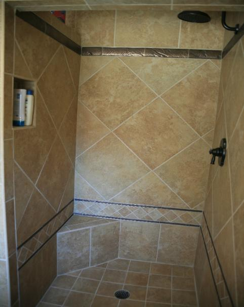Plano TX Shower Remodel Bathroom Pan Tile Allen Frisco McKinney